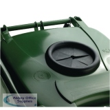 VFM Green Wheeled Bin With Bottle Opening 360 Litres 377877
