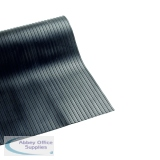 VFM 900mmx10m Black Broad Ribbed 3mm Matting 378749