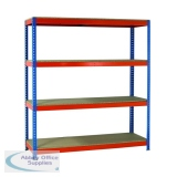 VFM Orange/Zinc 1500x600x2000mm Heavy Duty Painted Shelving Unit 379028