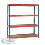 VFM Orange/Zinc 2100x450x2000mm (WxDxH Pack) Heavy Duty Boltless Shelving 379031