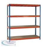VFM Orange/Zinc 1500x600x2500mm (WxDxH Pack) Heavy Duty Painted Shelving Unit 379051