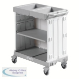 Compact Maid Service Trolley 900 Grey 381650
