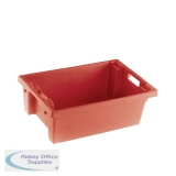Solid Slide Stack/Nesting Container 600x400x200mm Red 382958