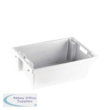 VFM White Solid Slide Stack/Nesting Container 32 Litre 382959