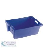 Solid Slide Stack 600X400X200mm Blue Nesting Container 382960