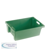 VFM Green Solid Slide Stack/Nesting Container 32 Litre 382961