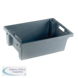 Solid Slide Stack/Nesting Container 600x400x200mm Grey 382963