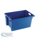 Solid Slide Stack 600X400X300mm Blue Nesting Container 382966