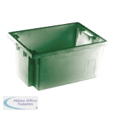 Solid Slide Stack 600X400X300mm Green Nesting Container 382967