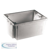 Solid Slide Stack 600X400X300mm Grey Nesting Container 382968