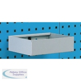Metal Tray Shelf Plain 255mm Grey 306994