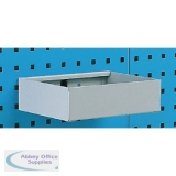Metal Tray Shelf Plain 450mm Grey 306995