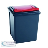 VFM Red 50L Recycling Bin With Lid 384289