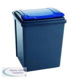 VFM Blue Grey/Blue Recycling Bin With Lid 384290