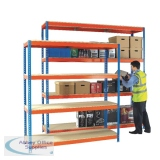 Heavy Duty 1500x600mm Orange/Zinc Painted Additional Shelf 378853