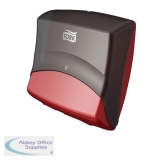 Tork Black and Red Folded Wiper and Cloth Dispenser 654008