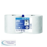 Tork White Wiping Paper Plus 750 Sheets 255m (2 Pack) 130041