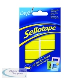 Sellotape Sticky Fixers Removable Pads 20 x 40mm (10 Pack) 1445286