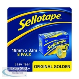 Sellotape Original Golden Tape 18mm x 33m (8 Pack) 1443251