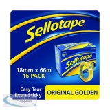 Sellotape Original Golden Tape 18mm x 66m (16 Pack) 1443252