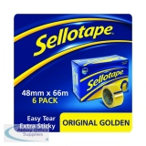 Sellotape Original Golden Tape 48mm x 66m (6 Pack) 1443304