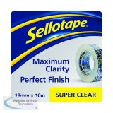 Sellotape Super Clear Tape 18mm x10m (50 Pack) 1443330