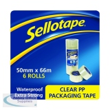 Sellotape Polypropylene Packaging Tape 50mmx66m Clear (6 Pack) 1445171
