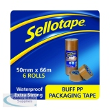 Sellotape Polypropylene Packaging Tape 50mmx66m Brown (6 Pack) 1445172