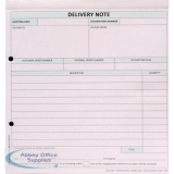 Custom Forms White/Pink/Blue 3-Part Delivery Note (50 Pack) HCD03