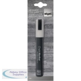 Sigel 50 Chisel Tip 1-5mm White Chalk Markers GL181