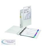 Snopake 25mm Clear Presentation 4 Ring A4 Binder 13368