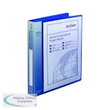 Snopake Executive Presentation 4D-Ring A4 Binder Electra Blue 13387