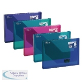 Snopake 25mm Document Box A4 Electra Assorted (5 Pack) 14832
