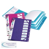 Snopake FileLastic 8-Part Elasticated File Electra Assorted (5 Pack) 14965