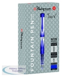 Snopake Platignum Fountain Pen Blue (12 Pack) 50459