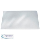Durable Duraglas Desk Mat Transparent Anti-glare W650xD500mm Ref 7113/19
