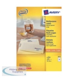 Avery Multipurpose Labels Laser Copier Inkjet 24 per Sheet 70x36mm White Ref 3475 [2400 Labels]
