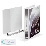 Leitz Softclick Presentation Ring Binder Polypropylene 4 D-Ring 30mm A4 White Ref 42020001 [Pack 6]