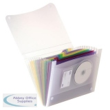 Elba Expanding File Coloured Polypropylene 13 Pockets A4 Ref 100208980