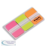 Post-it Index Strong 25mm Assorted Pink Green and Orange Ref 686-PGO [Pack 66] [2 For 1] Aug 2018