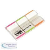 Post-it Index Tabs Lined Strong 25mm Assorted Pink Green Orange Ref 686L-PGO [Pack 66] [2 For 1] Aug 2018