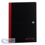 Black n Red Book Casebound 90gsm Ruled 192pp A4 Ref 100080446 [Pack 5] [2 For 1] Jul-Sep 2018