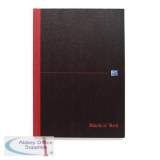 Black n Red Book Casebound 90gsm Ruled 192pp A5 Ref 100080459 [Pack 5] [2 For 1] Jul-Sep 2018