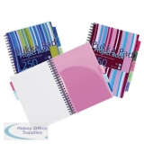 Pukka Pad Project Book Wirebound Ruled A4 Assorted Ref PROBA4 [Pack 3] [FREE A5 Notebooks] Jan-Mar 2019