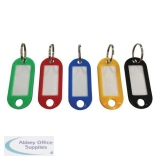 5 Star Facilities Key Hanger Fob Label 50x22mm Assorted [Pack 100]