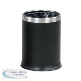Rubbermaid Bin Hide A Bag Stainless Steel 13.2 Litres 241x318mm Black Ref FGWHB14EBK