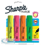 Sharpie Fluo XL Highlighter Chisel Tip 3 Widths Assorted Ref 1825662 [Pack 4]
