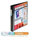Elba Vision Ring Binder PVC Clear Front Pocket 4 D-Ring A3 Portrait 30mm Black Ref 400009729 [Pack 2]