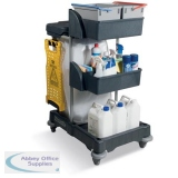 Numatic Xtra Compact XC3 Cleaning Trolley with 2 Buckets and 2 Tray Units W840xD570xH1060mm Ref 906249