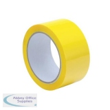Tape Polypropylene 48mmx66m Yellow [Pack 6]